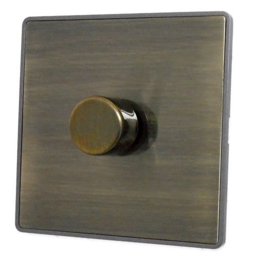 G&H LAB11 Screwless Antique Bronze 1 Gang 1 or 2 Way 400W Dimmer Switch